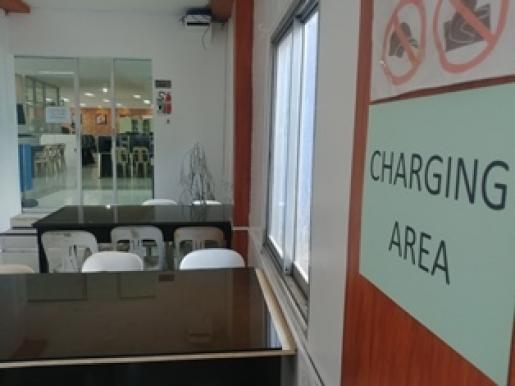 charging area