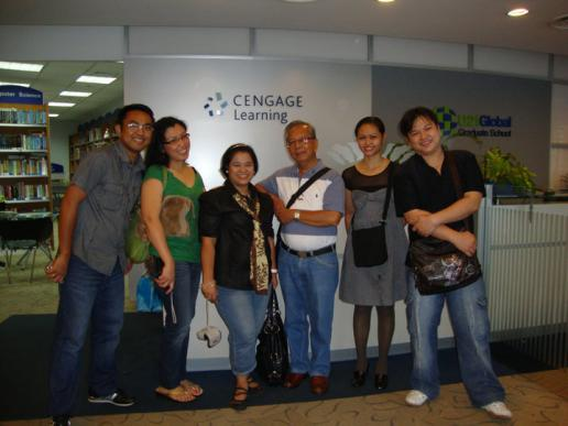 Book Fair in Singapore 2010 with Librarians from Dr. Yanga's Colleges and FEU, Dean, and President of Columban College