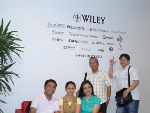 The group during their visit in Wiley showroom in Singapore 2010