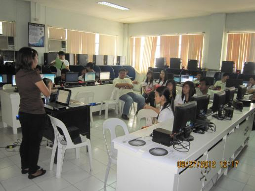 CS and IT students listening during the training...