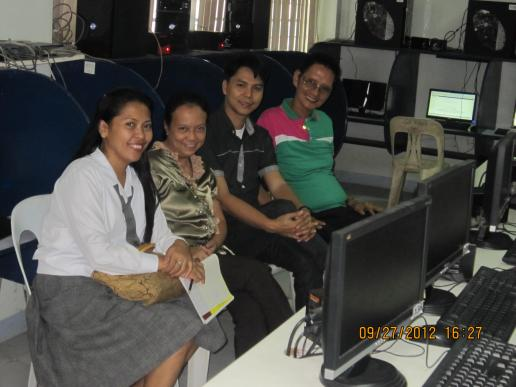 CAS Faculty with COED student at the training...