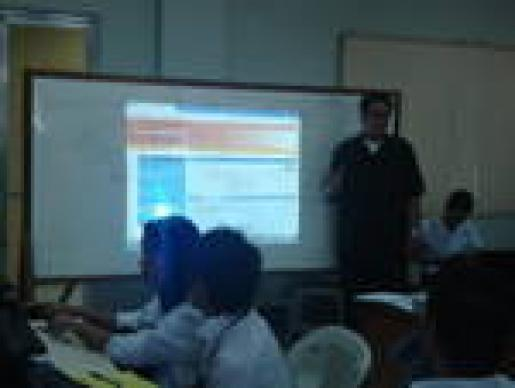 Mr. Centeno, CE-Logic Solution Specialist, conducting the Infotrac Training