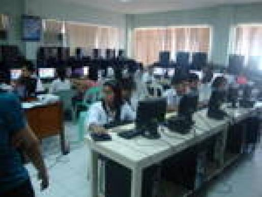 DYCI students' hands-on training...